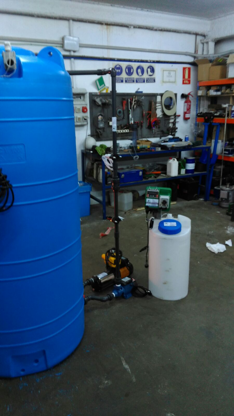 Sistema de reciclaje agua residual
